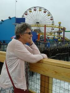 Sarah at Santa Monica Pier