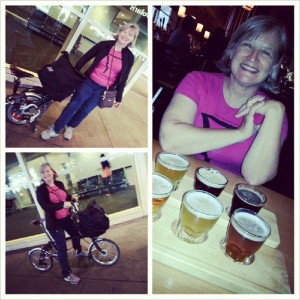 I am the woman who travels with her bicycle!