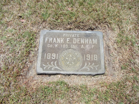 Frank's gravestone in Oddfellow's cemetary in Santa Rosa CA