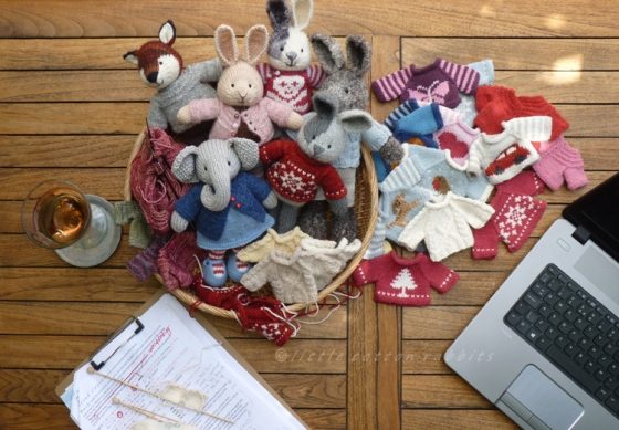 A sample of Little Cotton Rabbits, Fox, and Elephants by Julie Williams